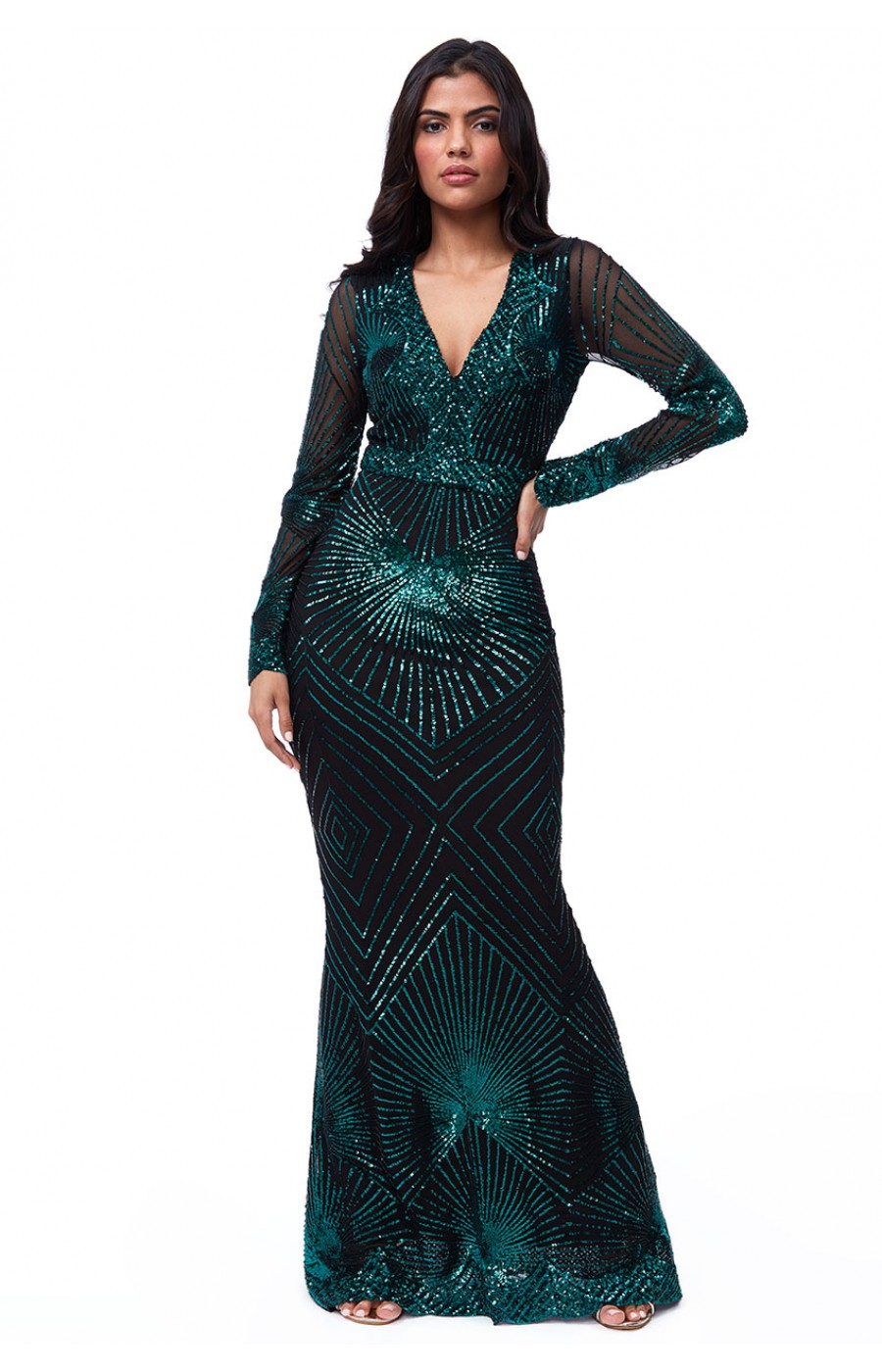 Μαύρο επίσημο φόρεμα με κεντημα