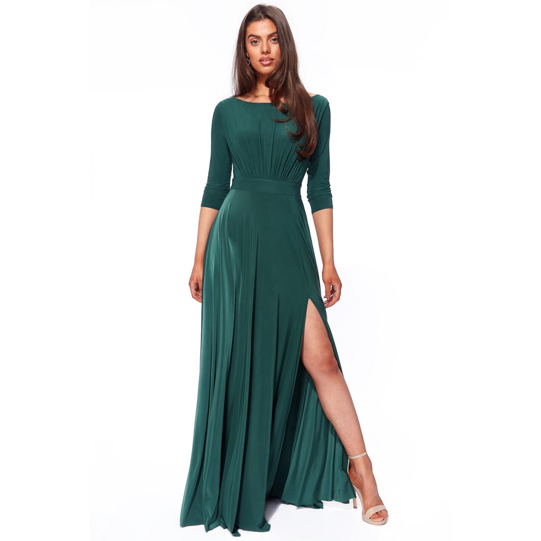Μακρύ ζέρσεϊ φόρεμα με μανίκια ΝΟΥΜΕΡΟ M-UK10