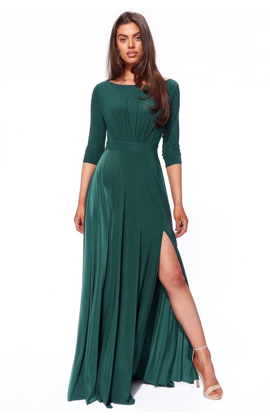 Μακρύ ζέρσεϊ φόρεμα με μανίκια
