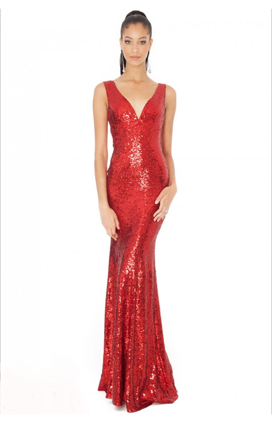 Κόκκινο φόρεμα με παγιέτες