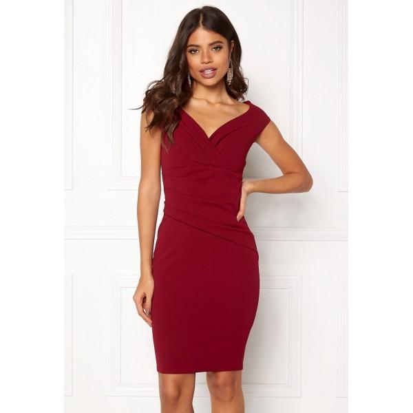 Μιντι φόρεμα στο χρώμα του κρασιού ΝΟΥΜΕΡΟ L-UK12