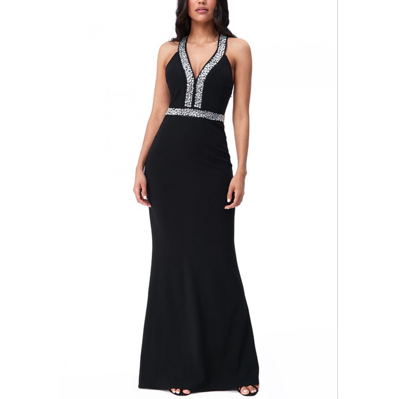 Επίσημο μακρύ μαύρο φόρεμα  ΝΟΥΜΕΡΟ M-UK10