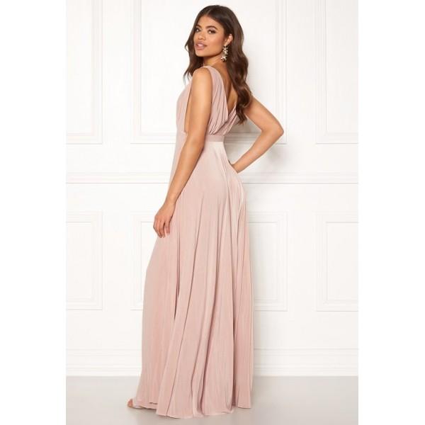 Χυτό μωβ φόρεμα με πλισέ κάτω  ΝΟΥΜΕΡΟ M-UK10