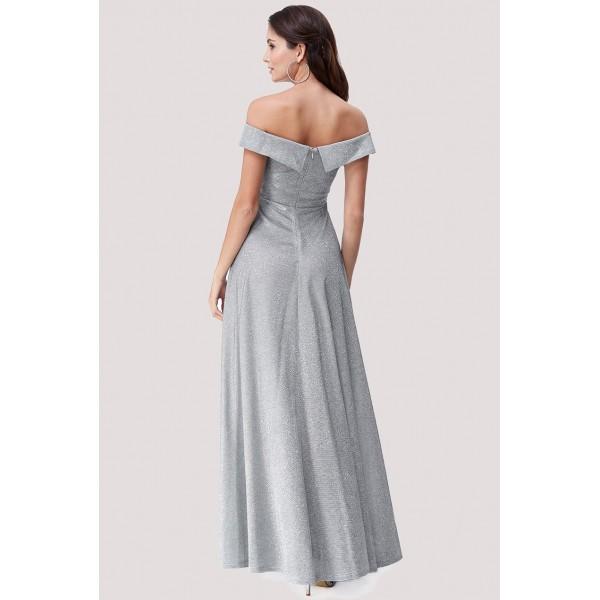 Ανάλαφρο ασημένιο μεταλλικό φόρεμα ΝΕΑ
