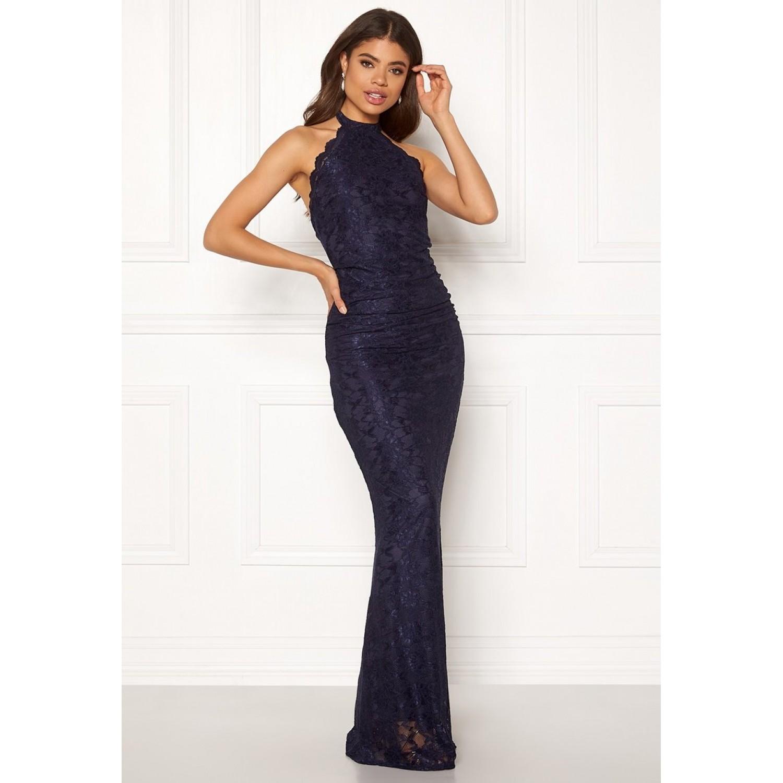 Μπλέ σκούρο δαντελένιο φόρεμα  ΝΟΥΜΕΡΟ M-UK10