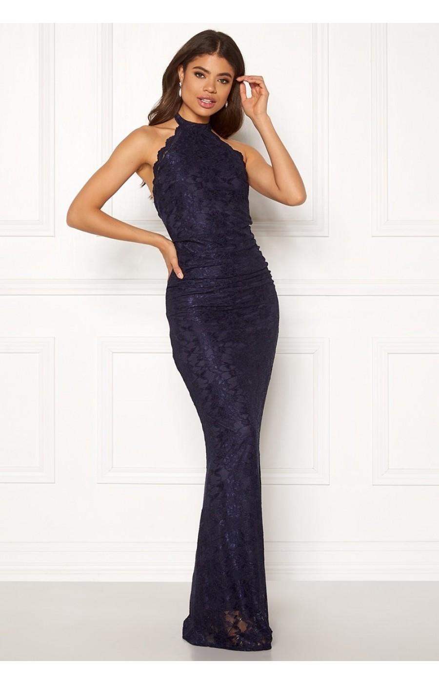 Μπλέ σκούρο δαντελένιο φόρεμα