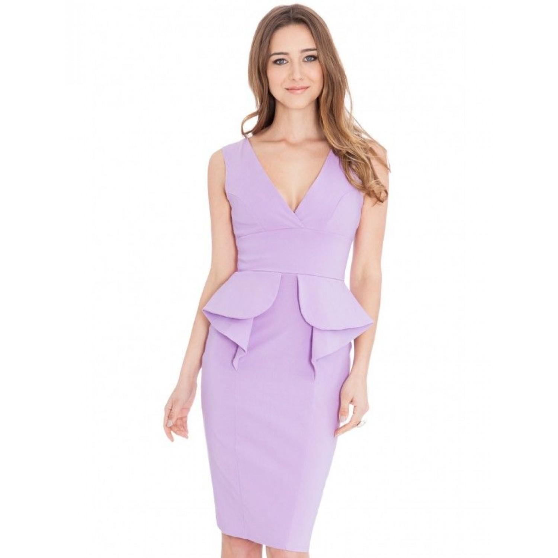 Ελαστικό φόρεμα στο χρώμα της λεβάντας ΝΟΥΜΕΡΟ XXL- UK16