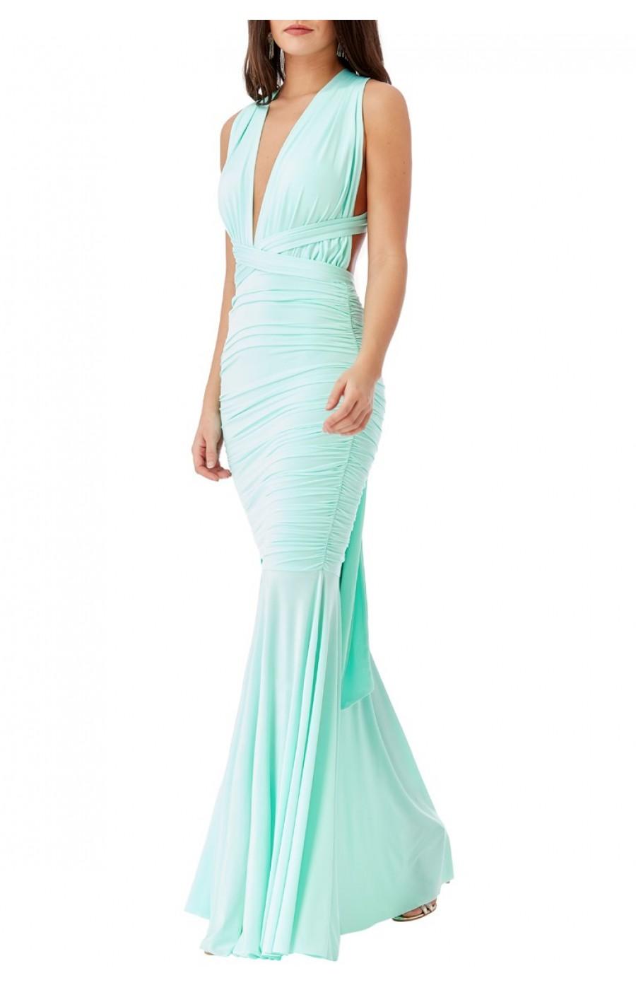 Εφαρμοστό ελαστικό φόρεμα που δένει με διάφορους τρόπους