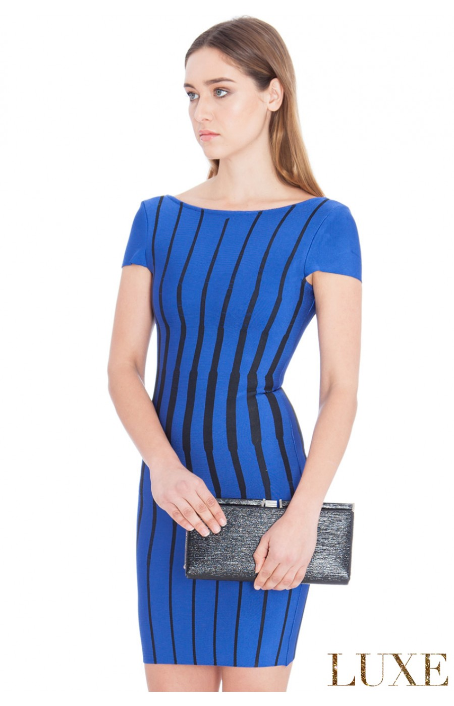 Ελαστικό μπλε φόρεμα