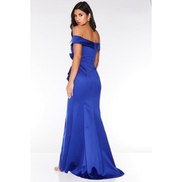 Βαθύ μπλε επίσημο φόρεμα