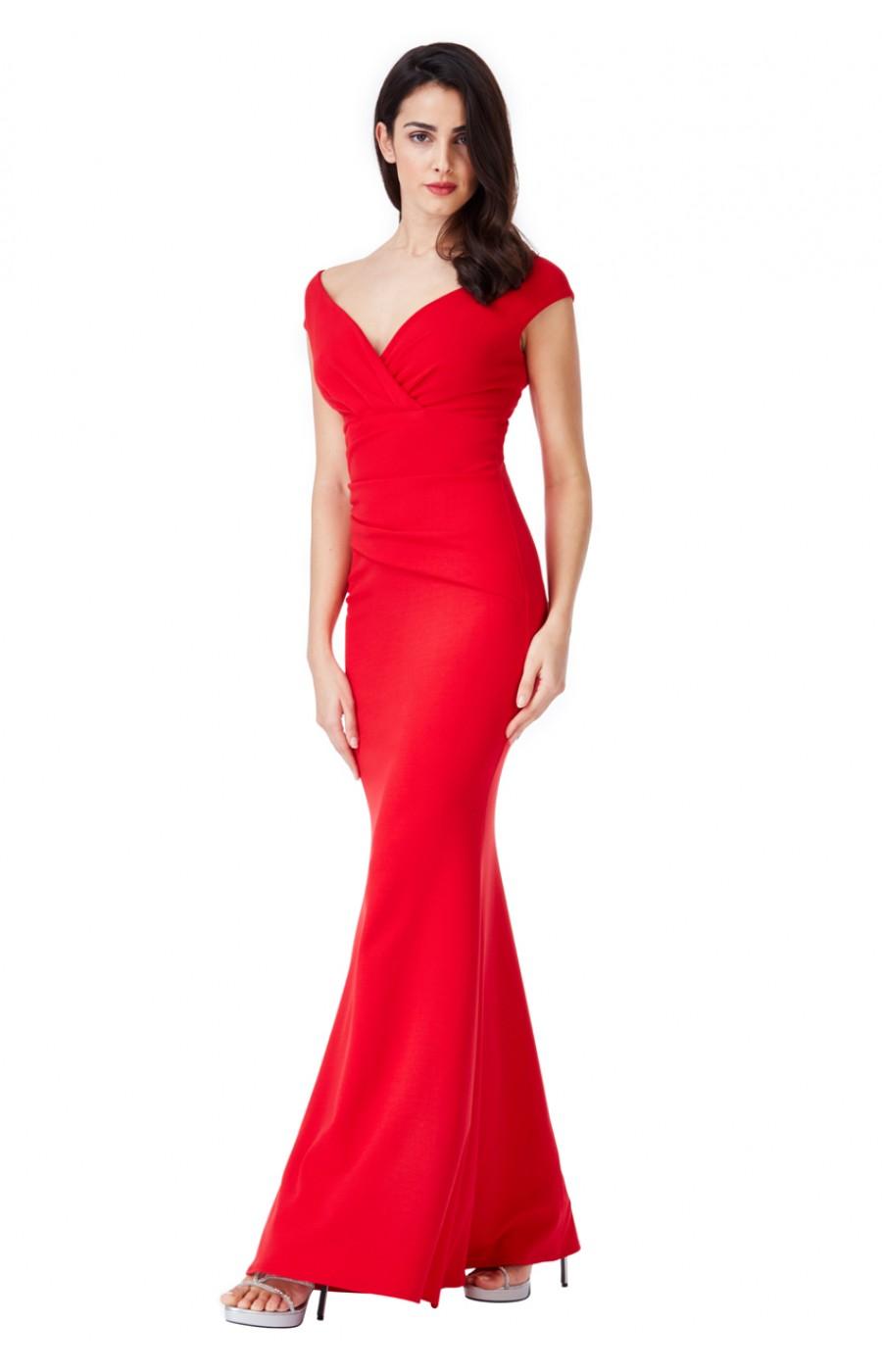 Κοκκινο εφαρμοστό κρέπ φόρεμα