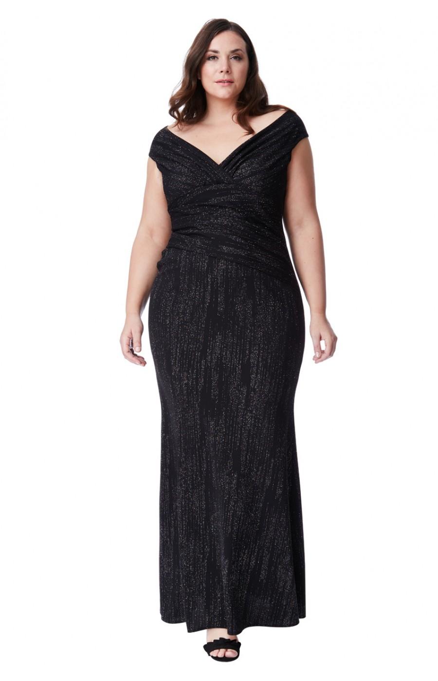 Μαύρο φόρεμα glitter μάξι