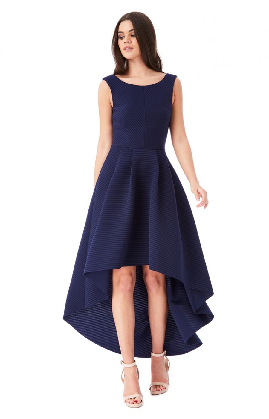 Ασύμετρο navy scuba φόρεμα