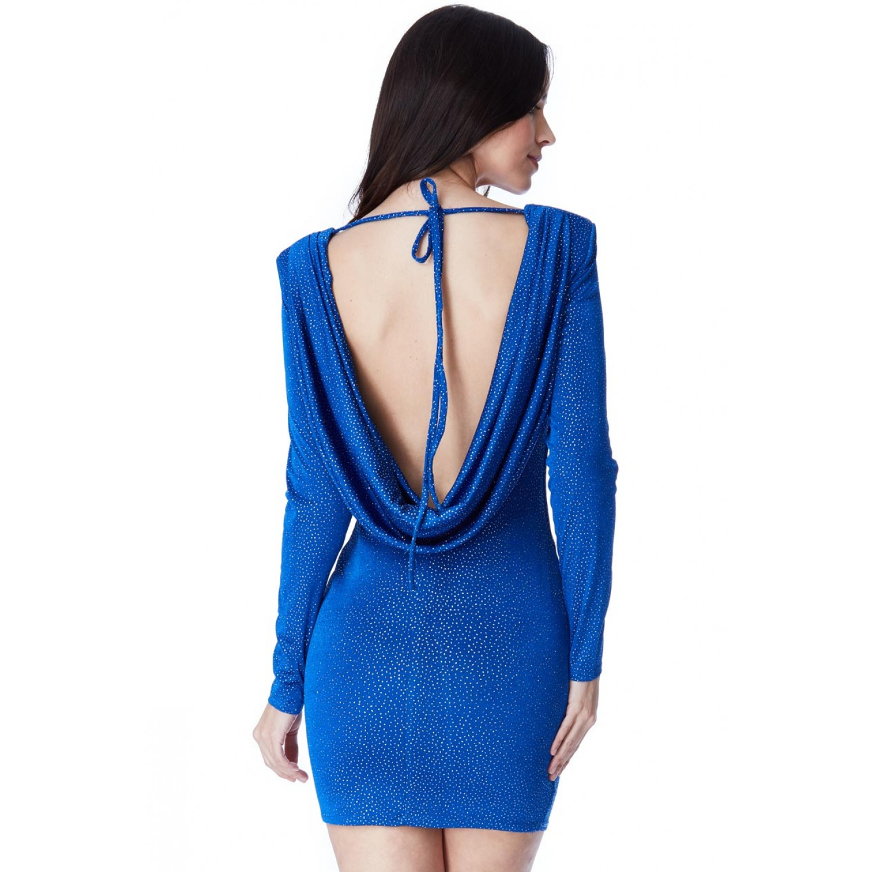 86048981cc05 Ελαστικο μπλε μινι φόρεμα
