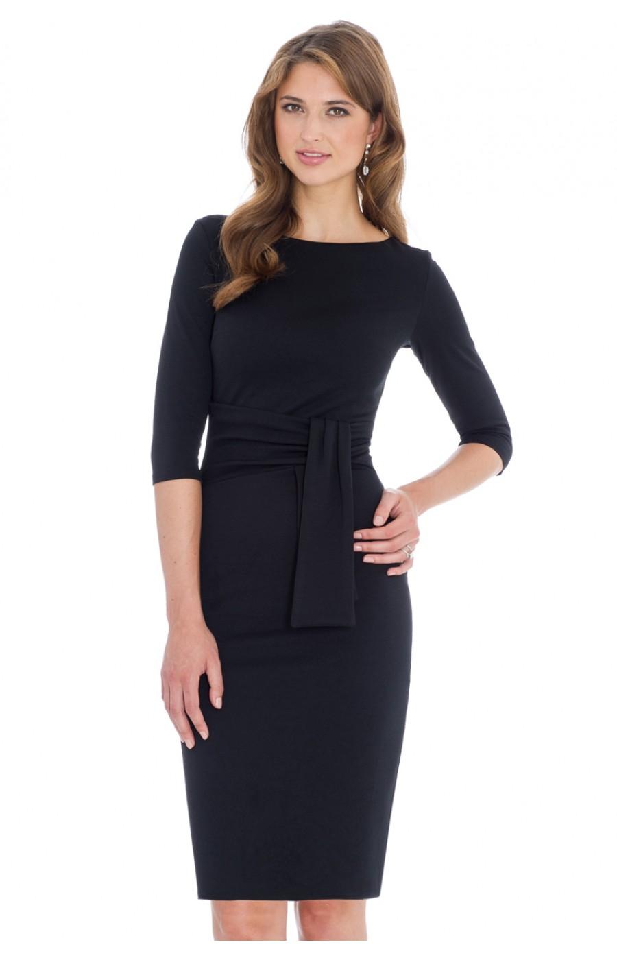 ba3803b2780b Μίντι φόρεμα γραφείου μαύρο
