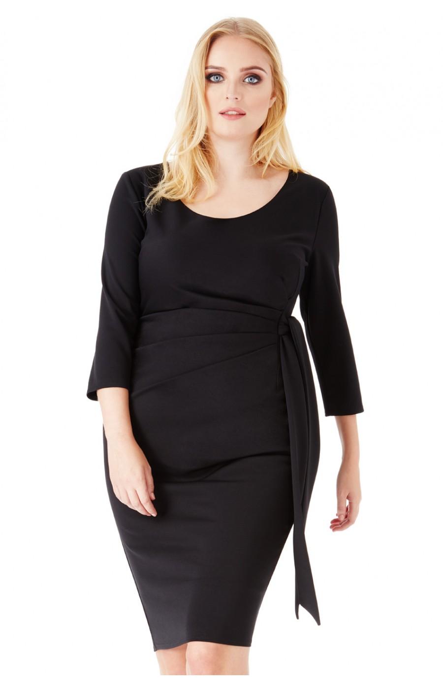 Μαύρο μίντι φόρεμα