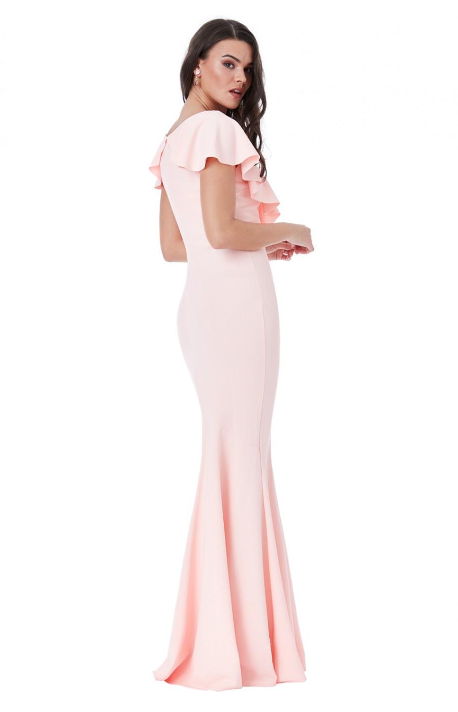 Ροζ μακρύ φόρεμα