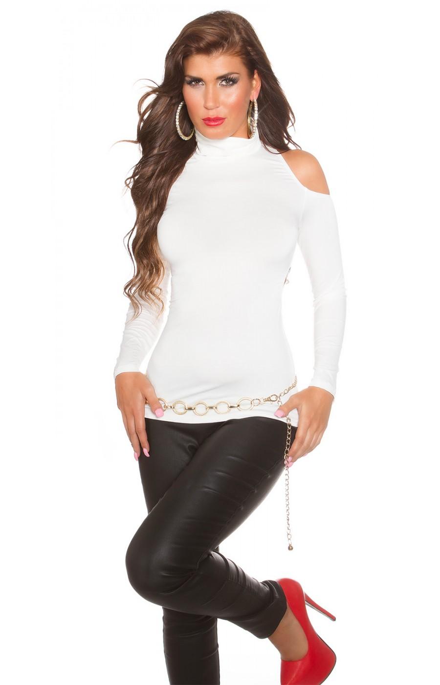 Μπλουζα με ανοικτη πλατη One size λευκό