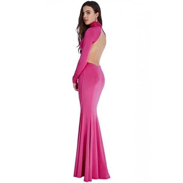 Φορεμα μακρυ βραδινο , με ανοικτη πλατη  ΝΟΥΜΕΡΟ L-UK12