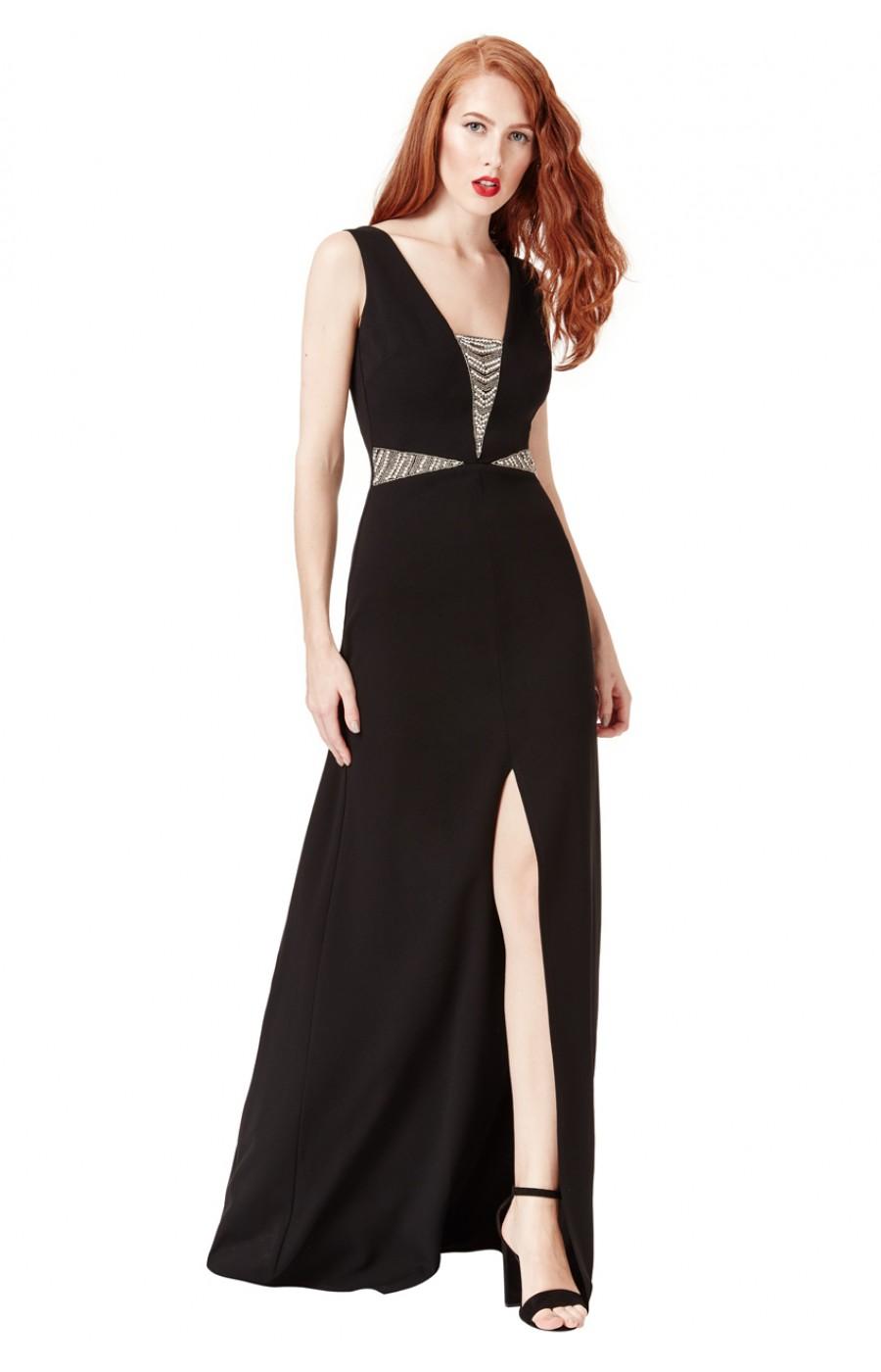 Μακρύ μαυρο επίσημο φόρεμα