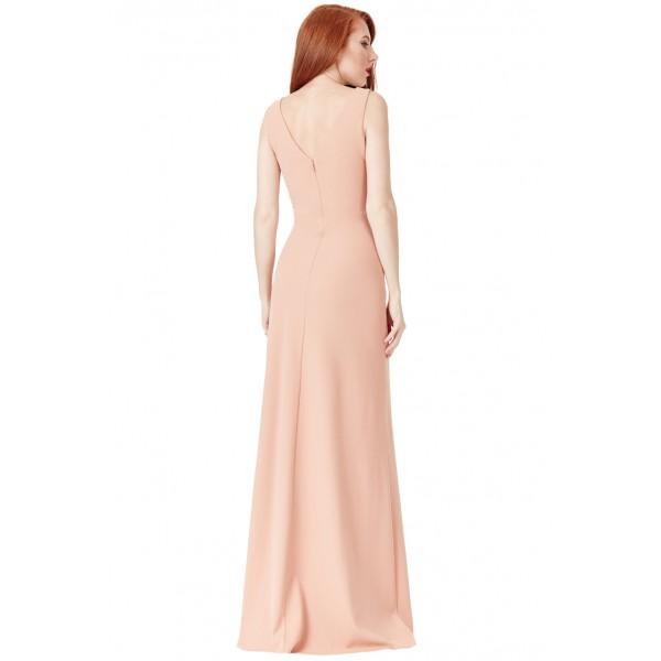 Μακρύ μπεζ επίσημο φόρεμα