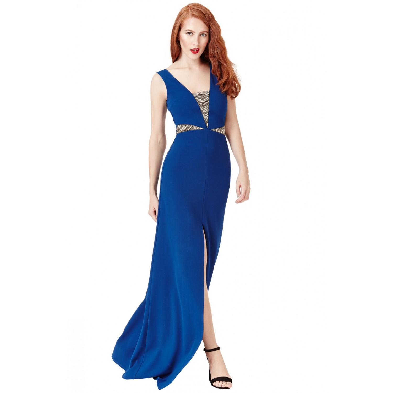 d1565016ea4d Μακρύ μπλε επίσημο φόρεμα