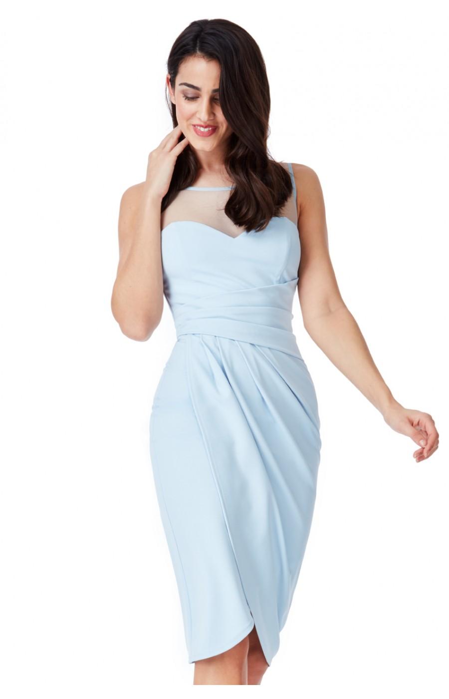 Γαλάζιο επίσημο φόρεμα