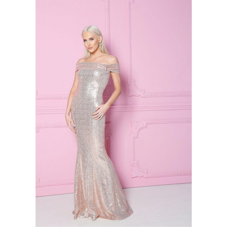 Μακρύ επίσημο φόρεμα με παγιέτα