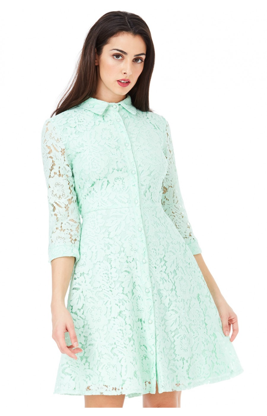 Πουκαμισο-φορεμα δαντελα