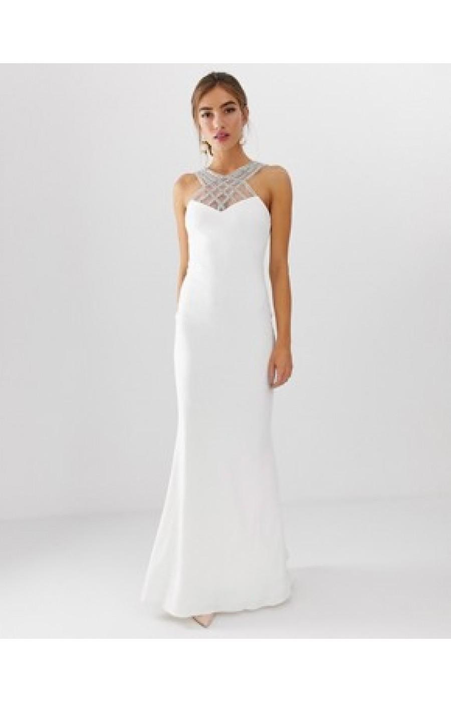 Επίσημο λευκό φόρεμα