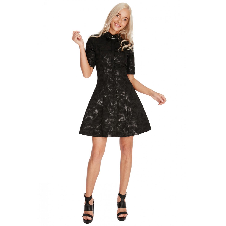 Μαύρο μινι φόρεμα με κουμπιά c8e79b49922
