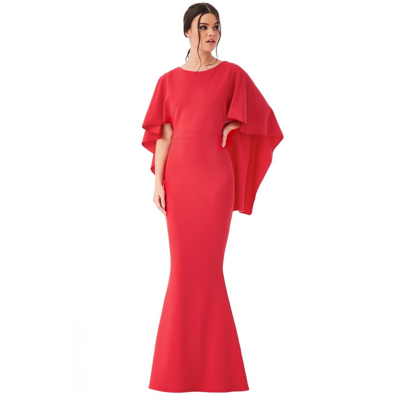 Κοκκινο κρέπ φόρεμα με ανοικτή πλάτη  ΝΟΥΜΕΡΟ XL-UK14