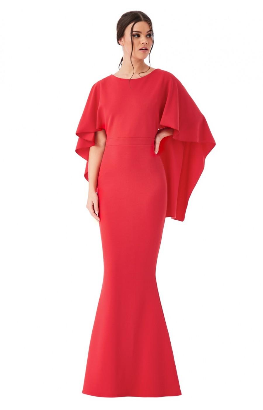Κοκκινο κρέπ φόρεμα με ανοικτή πλάτη