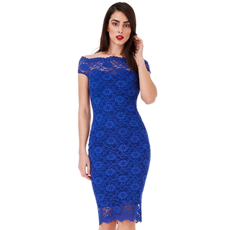 c3f6e54131b Φορεμα μπλε με δαντελα