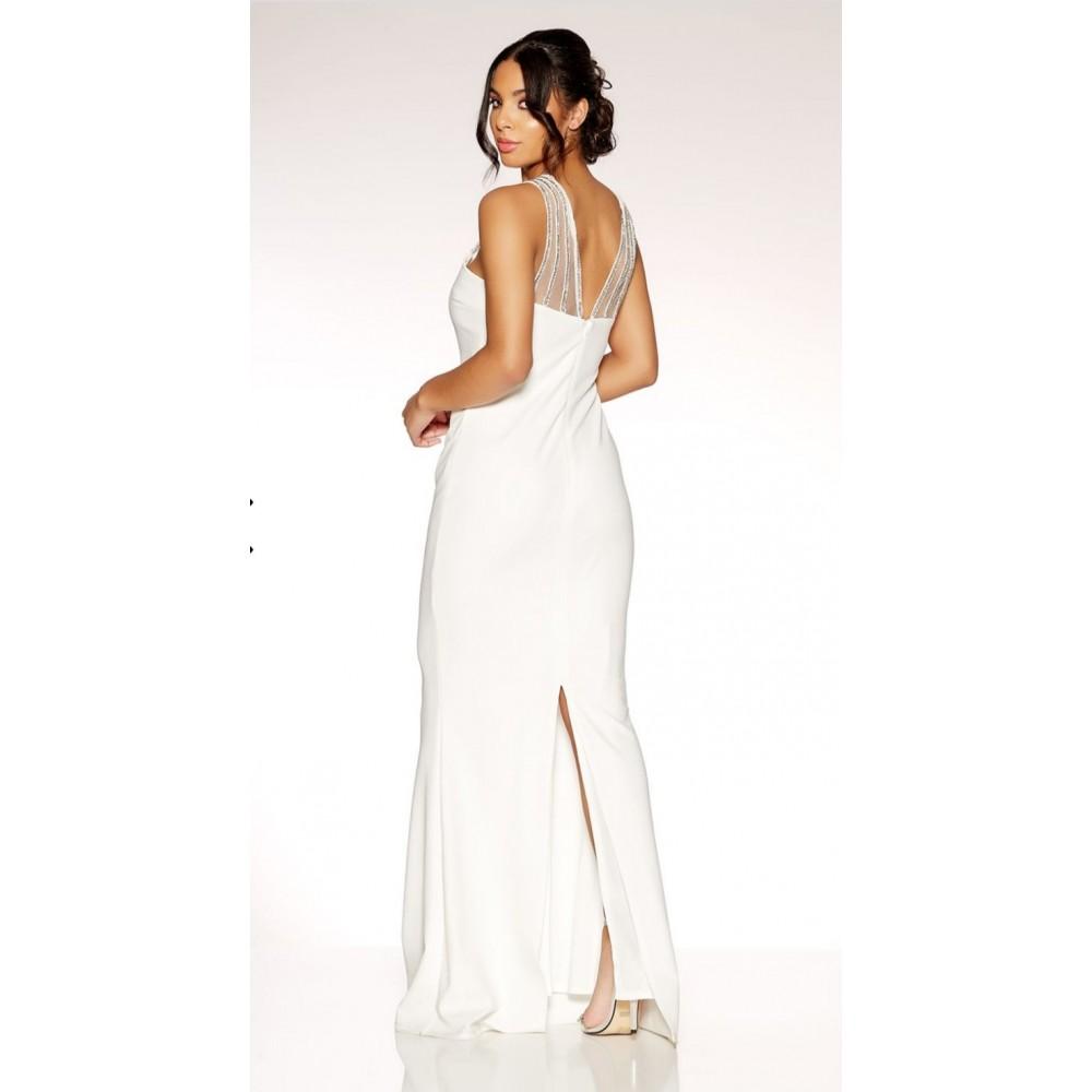 f63c2132a00 Επίσημο λευκό φόρεμα