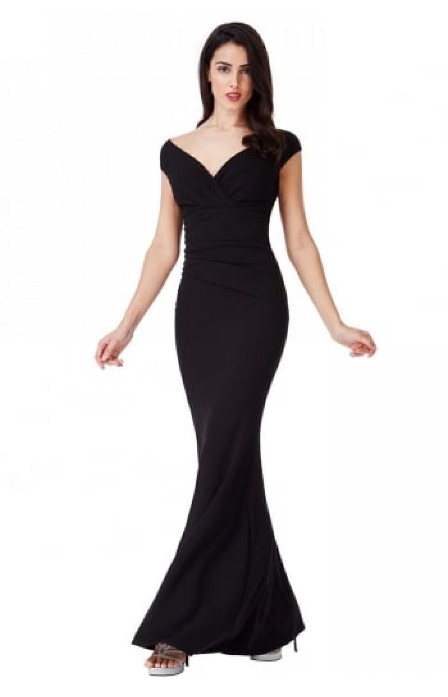 Μαύρο μακρύ φόρεμα acf844cb733