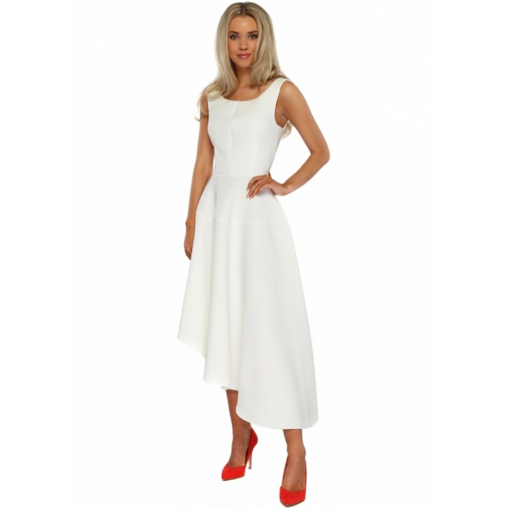 0fdaca4fc19 Λευκο ασυμετρο φορεμα