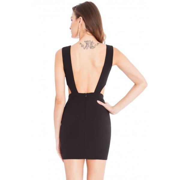 Μαυρο κοντο φορεμα με ανοικτα πλαινα  OFFERS