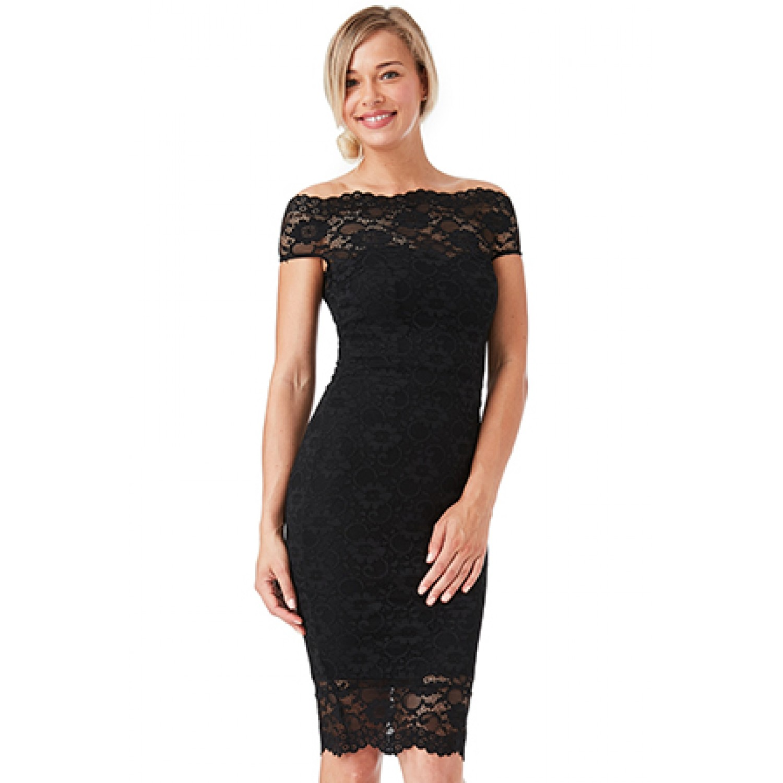 21baa0ddd233 Μαυρο κοντο φορεμα με δαντελα